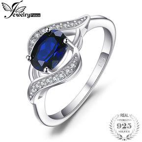 9f8069c84426 Anillo De Declaracion Jewelrypalace Creado Azul Zafiro 925 Plata Esterlina