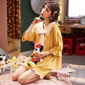Princesa Pijama De Algodon Para Mujer Ropa De Dormir Tallas Grandes Pijama Cuello Vuelto Ropa De Casa Conjuntos Sexy Nighty Para Ninas Linio Peru Ge582fa1f78xqlpe