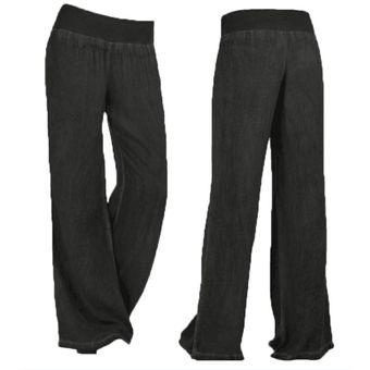Compra Pantalones Acampanados Para Mujer De Vaquero Y Estilo Simple ... c088b9caa32d