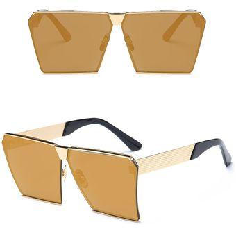 3f2de0b363 Compra Gafas De Sol Cuadradas Anti-UV Para Mujer -Dorado online ...