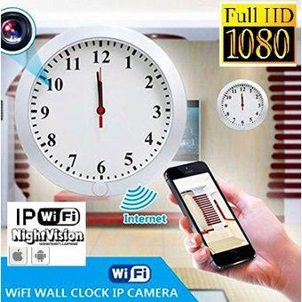 8c6636e0f50f Agotado Camara Reloj Espia Oculta Wifi Pared Mesa Ip FULLHD Vision Nocturna  32gb