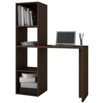 Compra Librero Vertical Con 4 Repisas Y Escritorio Para
