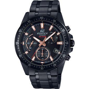 41e773ecd4df Compra Reloj Edifice EFV-540DC-1B Para Caballero Negro  Cobrizo ...
