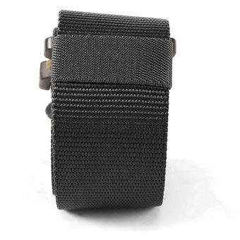 Los hombres Ajustable correa de nylon táctico militar ensanchar la cintura  con hebilla automática Negro 12ef2f78995e