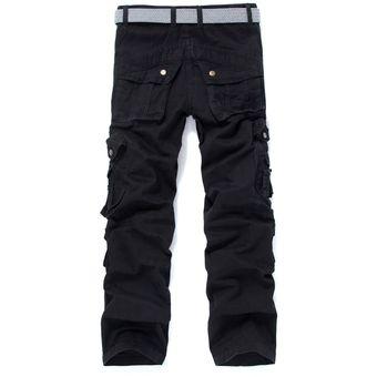 Pantalones Cargo Para Hombre Equipamientos Tacticos Senderismo Bolsillos Multiples Negro Linio Mexico Ge598fa1m7a8clmx