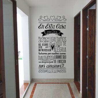 Compra vinilo decorativo por ejemplo en esta casa est - Letras decorativas para habitaciones infantiles ...