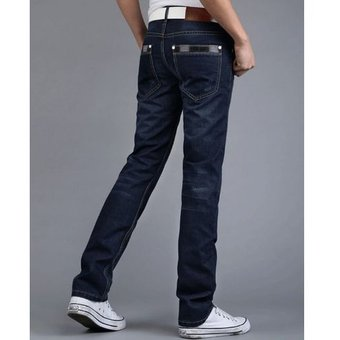 Pantalones Para Hombres Jeans Delgados Pantalones Casuales Para Hombres Azul Oscuro Linio Chile Oe956fa1msh85lacl