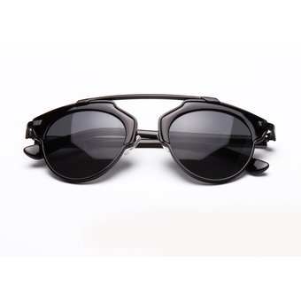 2dae41b358 Compra Gafas De Sol Retro Lente Espejo Aviador Unisex-negro online ...