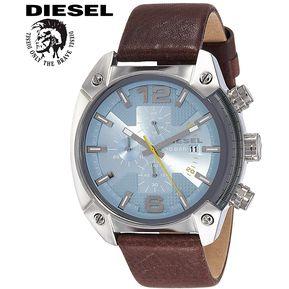 e8a5e74b5d68 Reloj Diesel Overflow DZ4340 Cronometro Acero Inox Correa De Cuero Marrón