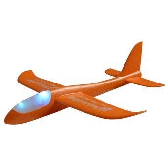 3424af019e Echar Mano De Bricolaje Planeador Volando Aviones Avión De Espuma Modelo De  Avión Para Niños Naranja