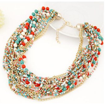 7a68070c26a6 Agotado Collar Harmonie Accesorios Multicapa Cadena Mostacilla Multicolor