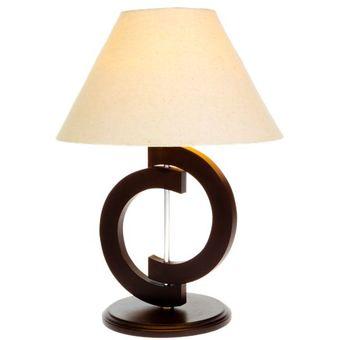 Compra lampara de buro madera medias lunas la luz rb12 - Lamparas de mesa para salon ...