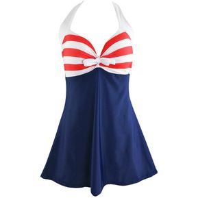 fcdce9d38 Vintage Sailor Traje De Baño De Una Pieza   Traje De Baño De Gran Tamaño-