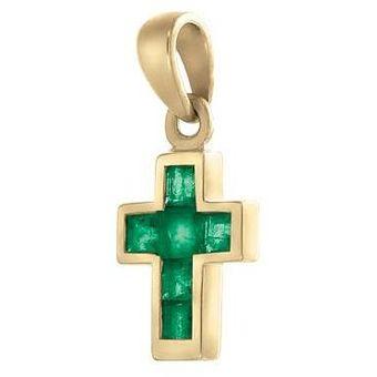 Compra Cruz Oro 14k Cristal Joyas online  7db658e85e6