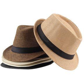 a1987847ae1ac EY Unisex Fedora Trilby Casquillo Del Sombrero De Paja Panamá Estilo  Packable Sun Travel Sombrero Blanco