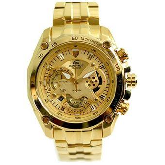 8dadacb39e7d Compra Casio - Reloj Analógico Hombre Edifice EF-550FG-5AV - Dorado ...