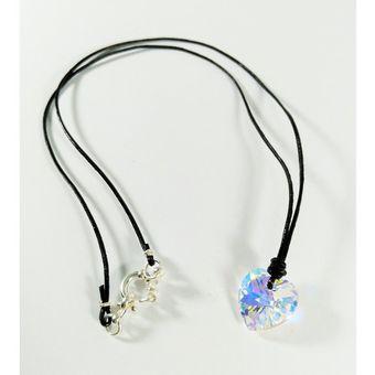 425118056334 Fernanda Romero - Collar Corazón Aurora Boreal Cristal Swarovski
