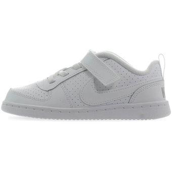 Blanco Low Court 870029100 Bebes Borough Nike Tenis 7ybgf6