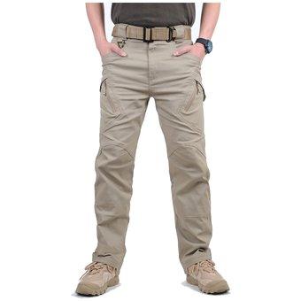 Pantalones De Carga Tacticos Muchos Bolsillos Elastico Para Hombre Caqui Linio Colombia Ch032fa1dn5v2lco