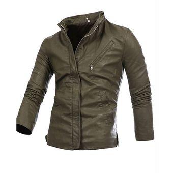 0b2b1a31cfcee Compra chaqueta de estilo militar y casual de color verde para ...