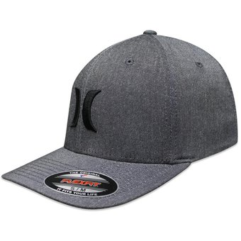Compra Gorra Hurley Suits Outline Hats Fit Gris Negro online  4b25abe9f5d