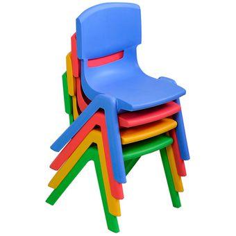 Silla De Plastico Niños Varios Colores Hogar O Jardin Infantil