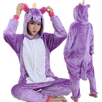 f301989e85 Compra Pijama Mameluco De Unicornio Tipo Kigurumi Cosplay Morado ...