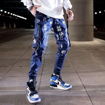 Pantalones De Hombre Nueva Moda Streetwear Color De Costura Joggers Hip Hop Pantalones Largos Hombres Cintura Elastica Pantalones Cargo Color 19 Linio Peru Ge582fa00cdehlpe