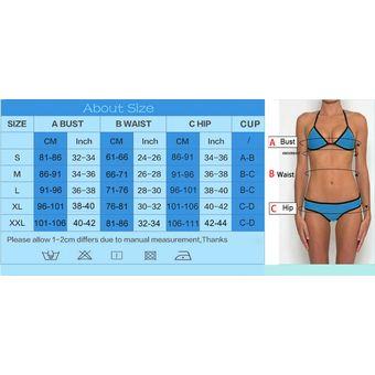 0b7f4475c7e2 Traje De Baño De Mujer Patchwork Bikini - Azul