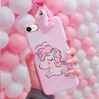 3191d0aea40 Para IPhone 8 Y 7 3D Papa Unicornio Plena Cobertura Proceso IMD Volver Funda  Protectora (